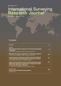 International Surveying Research Journal Vol 1 No 1