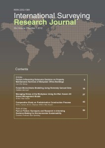 International Surveying Research Journal Vol 2 No 1 2012