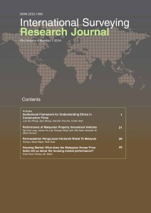 International Surveying Research Journal Vol 3 No 2 – 2013