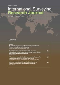 International Surveying Research Journal Vol 5 No 1 – 2015